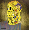 Cartoon: KiSS (small) by gamez tagged klimt sklint kiss bizou