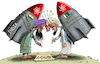 Cartoon: Conflict between India and Pakis (small) by Ridha Ridha tagged conflict,between,india,pakis,cartoon,by,ridha