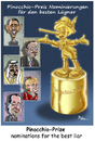 Cartoon: Pinocchio Prize (small) by Ridha Ridha tagged pinocchio,prize,politics,cartoon,by,ridha