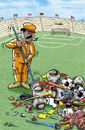 Cartoon: The day after Football WM 2010 (small) by Ridha Ridha tagged the,day,after,football,wm,2010,cartoon,by,ridha,fussball,sport,fifa,world,cup