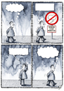 Cartoon: THINKING IS NOT PERMITTED (small) by Ridha Ridha tagged thinking,is,not,permitted,cartoon,by,ridha