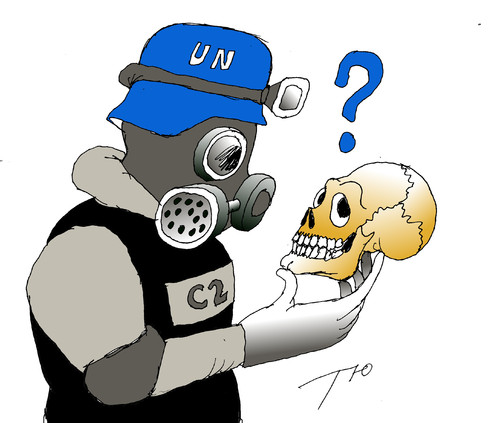 Cartoon: Question in Syria (medium) by tunin-s tagged gas,attack