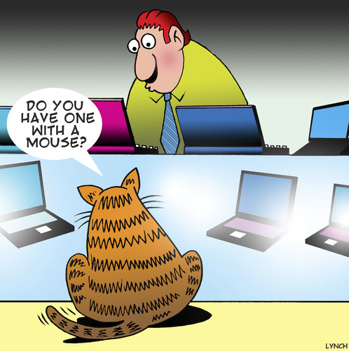 Cartoon: A mouse (medium) by toons tagged cats,mice,mouse,laptops,computers,ipad,tablet,cats,mice,mouse,laptops,computers,ipad,tablet