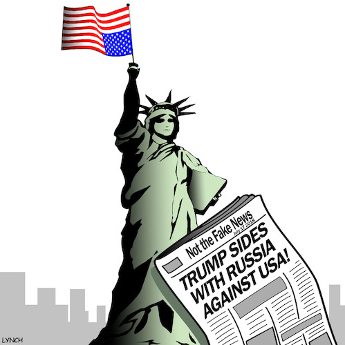 Cartoon: Flag of distress (medium) by toons tagged flag,flown,upside,down,trump,and,putin,statue,of,liberty,treason,russia,usa,flag,flown,upside,down,trump,and,putin,statue,of,liberty,treason,russia,usa