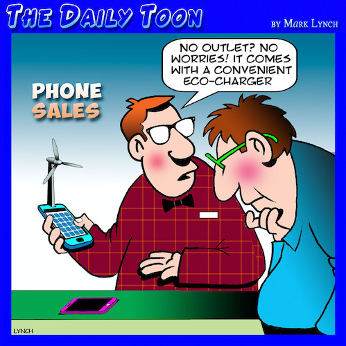 Cartoon: Smartphones (medium) by toons tagged wind,turbine,renewable,energy,climate,change,phone,sales,farms,charger,wind,turbine,renewable,energy,climate,change,phone,sales,farms,charger