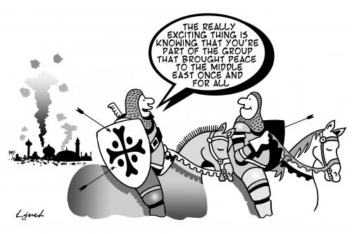 Cartoon: the crusades (medium) by toons tagged crusades,christianity,middle,east,war