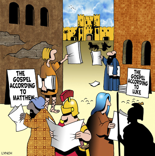 Cartoon: The Gospel according to (medium) by toons tagged gospel,bible,tabloids,newspapers