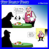 Cartoon: Alcoholic waiter cartoon (small) by toons tagged restaurant,alcoholic,drunk,waiter