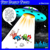 Cartoon: Alien abduction (small) by toons tagged travel,restrictions,aviation,coronavirus,pandemic,aliens,spaceship