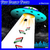 Cartoon: Alien abduction cartoon (small) by toons tagged pizza,aliens,flying,saucers,extra,terrestrial,life