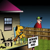 Cartoon: Beware of the dog (small) by toons tagged dogs,guns,canines