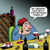Cartoon: Bottling things up (small) by toons tagged therapy,bottle,things,up,stress,wine,tasting,rack,alcohol,relief