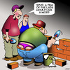Cartoon: Bricklayer (small) by toons tagged bricklayer,ladies,thong,womens,underwear,tradesman