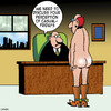 Cartoon: Casual Friday (small) by toons tagged casual,fridays,nudity,cowboy,boots,spurs,kinky