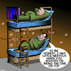 Cartoon: Cellmates (small) by toons tagged prison,bunk,beds,man,on,top,sex,homosexuality,gay,prisoners,jail