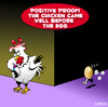 Cartoon: chicken before the egg (small) by toons tagged chicken,before,the,egg,chickens,eggs,philosophy