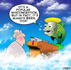 Cartoon: Cod (small) by toons tagged god,heaven,religion,hell,fish,cod,afterlife,death,angels,clouds,bible,halo