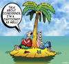 Cartoon: COINCIDENCE (small) by toons tagged desert,island,cartoon,cartoonist,cartoons