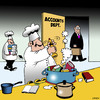 Cartoon: Cooking the books (small) by toons tagged accountants,fraud,stealing,corporate,crime,cooking,the,books,false,accounts,chef,catering,food