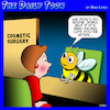 Cartoon: Cosmetic surgery (small) by toons tagged bee,sting,lips,boob,job,breast,enhancement,bees