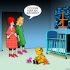 Cartoon: Crash test dummy (small) by toons tagged babies,crash,test,dummy,nursery,unwanted,pregnancy,car,children