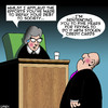 Cartoon: Credit card fraud (small) by toons tagged credit,cards,female,judge,stolen,jail,prisoner,debt,to,society