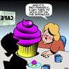 Cartoon: Cupcakes (small) by toons tagged dieting,cupcakes,obese,health,overweight,sweet,tooth,fat