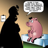 Cartoon: Cured ham (small) by toons tagged pigs,ham,cured,meats,tasty,food,medical,diagnosis,animals,farm