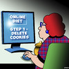 Cartoon: Delete cookies (small) by toons tagged diets,cookies,obesity,delete,overweight