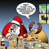 Cartoon: Designated driver (small) by toons tagged santa,designated,driver,rudolph,the,reindeer,drunk,animals,christmas,xmas