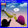 Cartoon: Divorce cartoon (small) by toons tagged snails,slugs,divorce,lost,the,house,settlement,courts