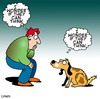 Cartoon: dog think (small) by toons tagged dogs canine philosophy thought bubble