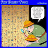 Cartoon: Egyptian hieroglyphics (small) by toons tagged pop,up,ads,egyptian,sheets,pyramids,explorers