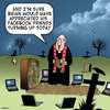 Cartoon: Facebook friends (small) by toons tagged facebook,funerals,wakes,laptops,death,cemetery,burial,coffin