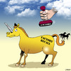 Cartoon: factory recall (small) by toons tagged unicorns,factory,recall,faulty,returns