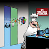 Cartoon: Feedback (small) by toons tagged chefs,food,complaints,restaurant,kitchen,cooking