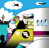 Cartoon: flying for dummies (small) by toons tagged airlines,dummies,pilots,stewardess,aircraft,airports,airline,staff,co,pilot,british,airways,fear,of,flying