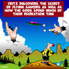 Cartoon: Flying saucer (small) by toons tagged frisbee,god,flying,saucer,hiking,camping