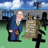 Cartoon: follow me (small) by toons tagged twitter facebook social networks email text mobile phone gravesite cemetary death afterlife