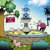 Cartoon: Fountain of Youth (small) by toons tagged peeing,fountain,of,youth,babies,anti,ageing