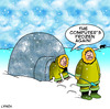 Cartoon: frozen (small) by toons tagged computers,eskimos,igloos