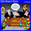 Cartoon: Funeral (small) by toons tagged iphone,afterlife,ringing,phone,funeral,death