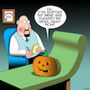 Cartoon: Halloween (small) by toons tagged pumpkin,halloween,therapy,karma,vegetables
