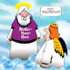Cartoon: Holier than thou (small) by toons tagged righteous,holier,than,thou,shirt,design,angels,halo