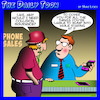 Cartoon: Insurance cartoon (small) by toons tagged phone,sales,staring,at,your,iphones,collision,insurance,on,selling,industry
