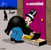 Cartoon: keys under the mat (small) by toons tagged houdini,keys,locks,security,doors,performers,escapoligist,burglar,thief,home