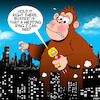 Cartoon: King Kong (small) by toons tagged king,kong,cheating,husband,animals,apes,gorilla,extra,marital,affair,kidnapping,new,york
