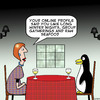 Cartoon: Long winter nights (small) by toons tagged penguins,online,dating,internet,romance