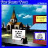 Cartoon: Love your enemy (small) by toons tagged church,messages,bars,tavern,love,thy,neighbor,demon,drink