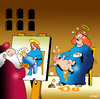 Cartoon: Madonna and child (small) by toons tagged religion,madonna,and,child,michaelangelo,sistine,chapel